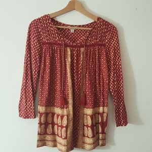 Lucky Brand size small three-quarter sleeve top